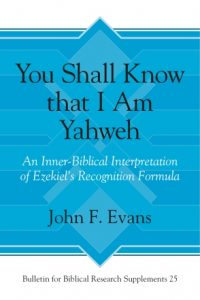 You Shall Know that I am Yahweh cover